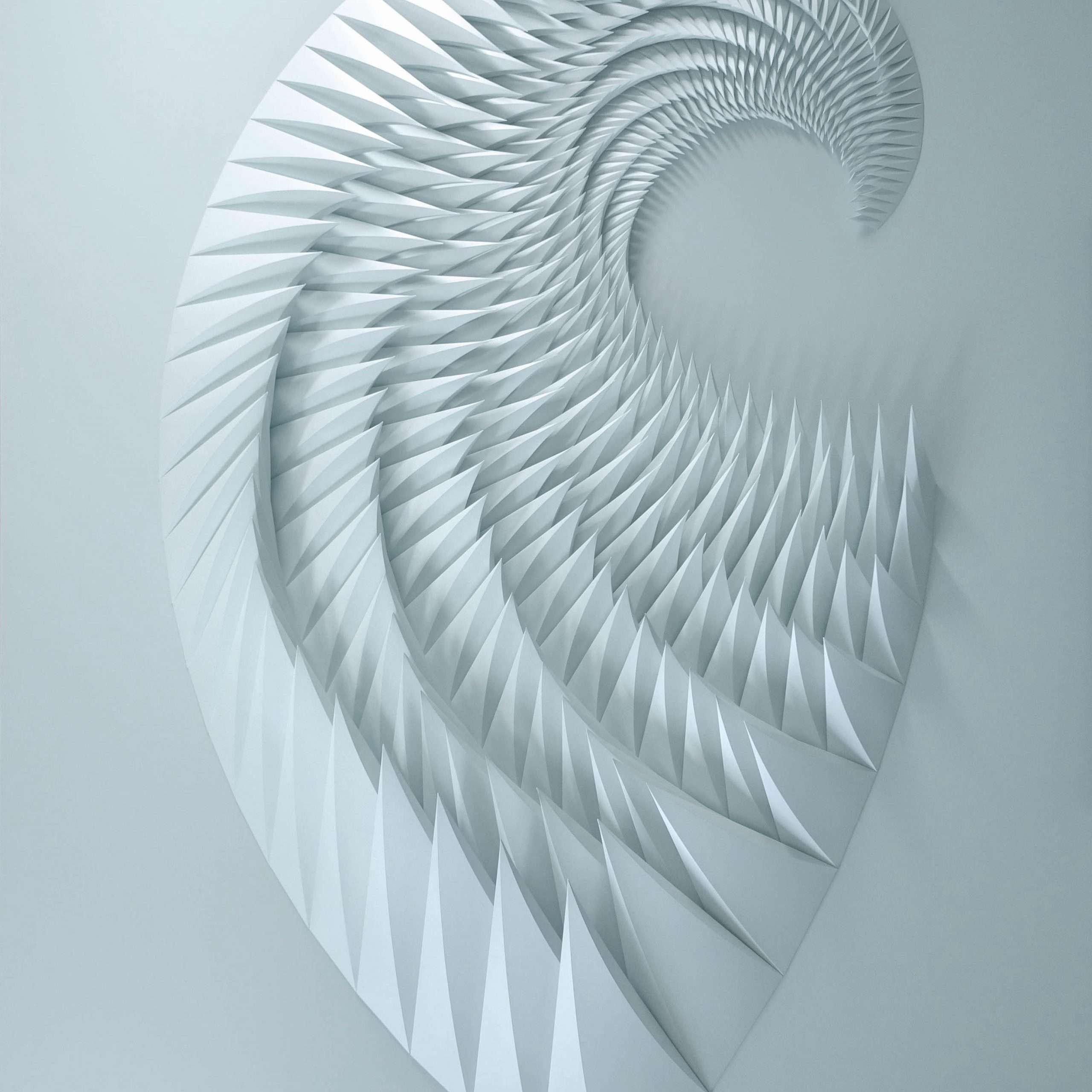 unholy 293 48 x 72 x 4 celadon iridescent paper 42000 retail scaled